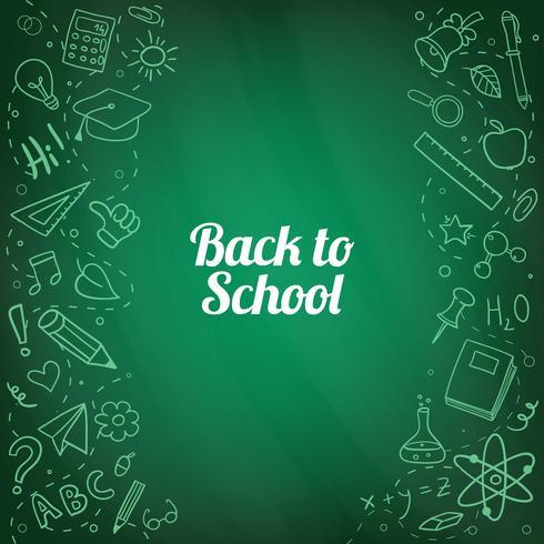 Terug naar school handgetekende doodles achtergrond