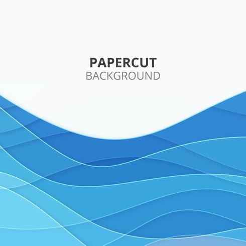 Blauer Papierschnitthintergrund. Business-Hintergrund