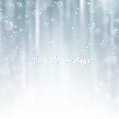 Abstrait Noël avec des flocons de neige. Fond d'hiver élégant