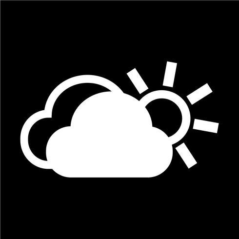 icône soleil nuage