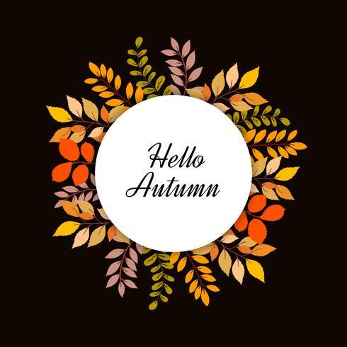 Ciao cornice foglie autunnali