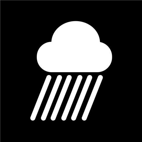 Icône de pluie nuageuse