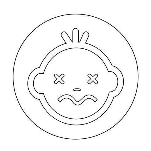 Icono de cara de bebé