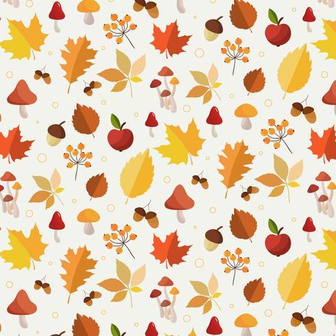 Patrón de hojas de otoño