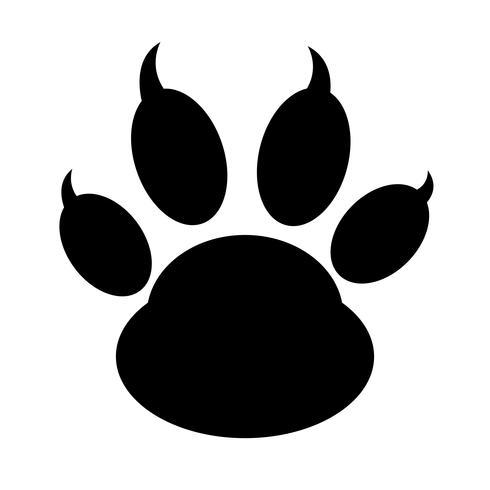 icono de impresión de pata de animal vector