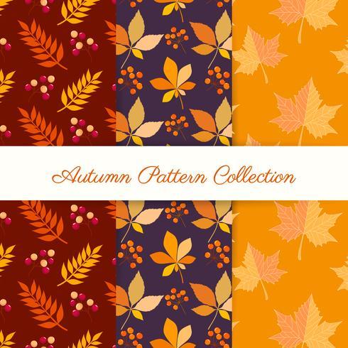 Hand tekenen herfst patronen