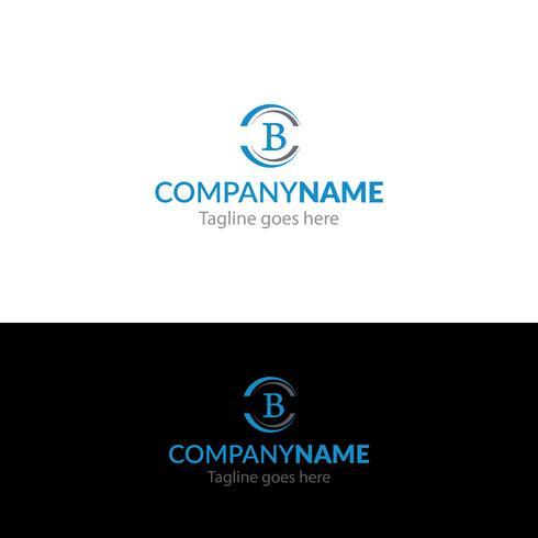 Diseño de logotipo letra B vector