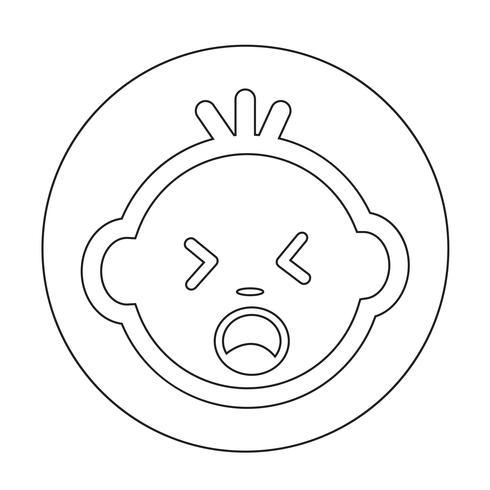 Icono de cara de bebé vector