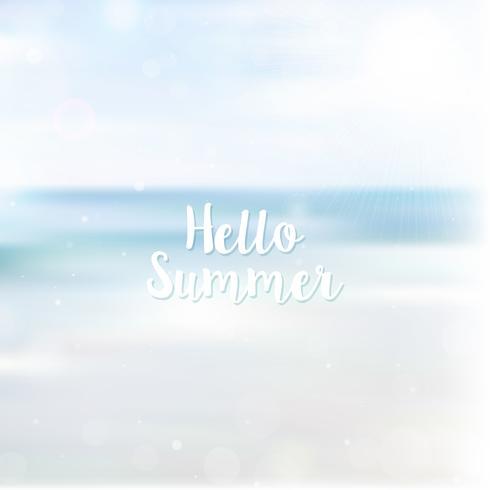 Unscharfer hallo Sommerhintergrund, Strandlandschaft
