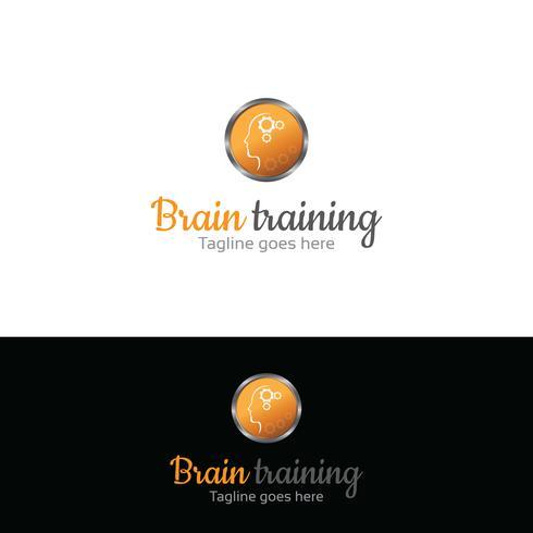 Design del logo di educazione. Logo di allenamento
