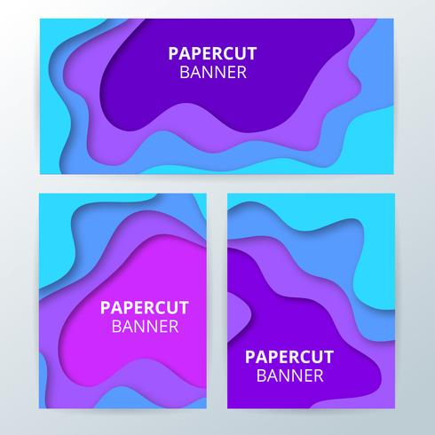 Colorful paper cut banners
