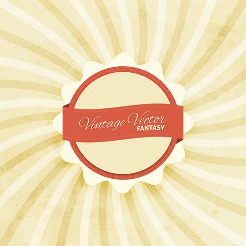 Vintage bakgrund med emblem