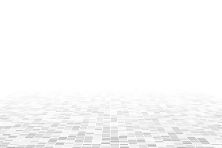 White geometric perspective background