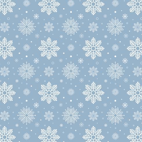 Patrón de copos de nieve azul. Patrón de copos de nieve blanca sobre fondo azul vector