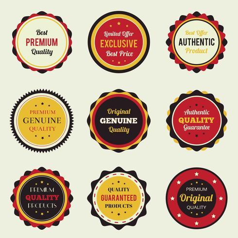 Retro vintage badges instellen