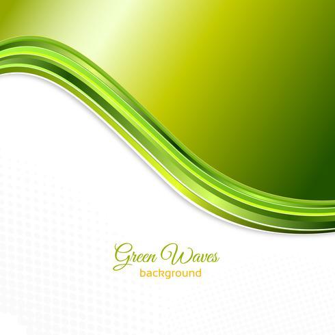 Fondo de ondas verdes vector