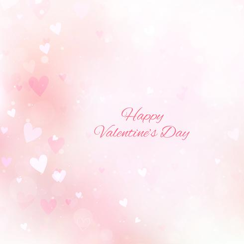 Fondo di San Valentino con cuori e bokeh
