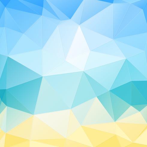 Fondo geométrico azul y amarillo vector