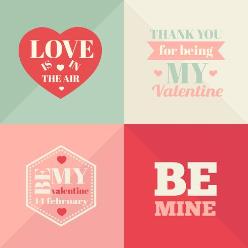 Vintage Valentines Day Cards. Valentines day cards vector