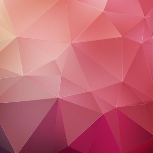 Pink crystal geometric background