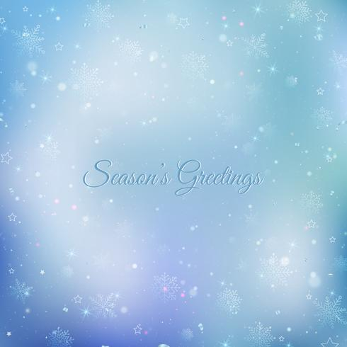 Abstracte Kerstmisachtergrond met sneeuwvlokken. Blauwe elegante winter achtergrond