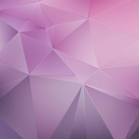 Pink crystal geometric background vector