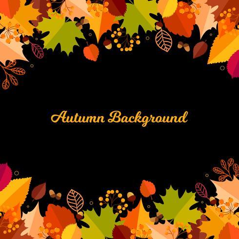 Höst bakgrund med löv