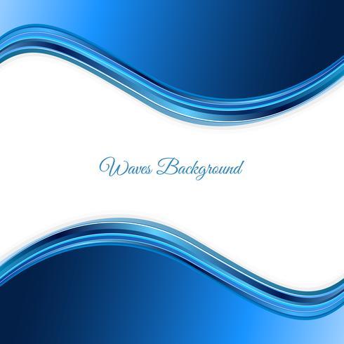 Fondo de ondas azules. Fondo azul abstracto de la onda Plantilla azul del negocio de la onda vector