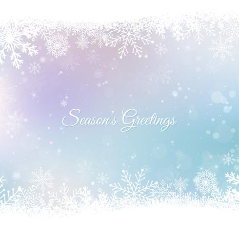 Abstract Christmas background with snowflakes. Blue Elegant Winter background vector