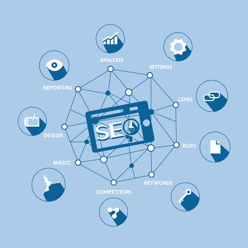 Linjedesignmall för analyswebbplatskarta. Vektor illustration koncept för affärsanalys, marknadsundersökning, dataanalys.