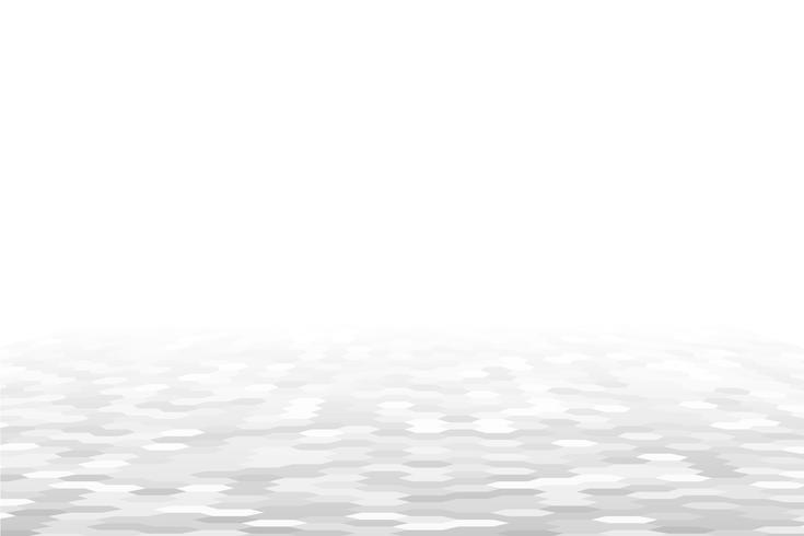 Fondo de perspectiva geométrica blanca vector