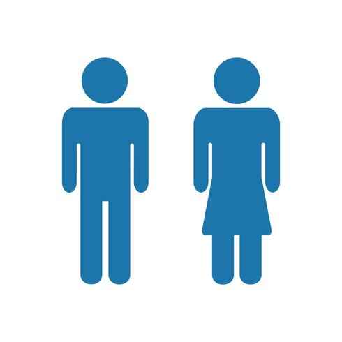 Man and female icons. Man and lady toilet sign