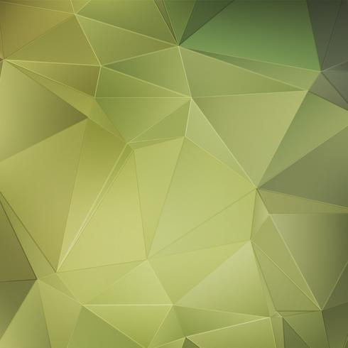 Green crystal abstract background
