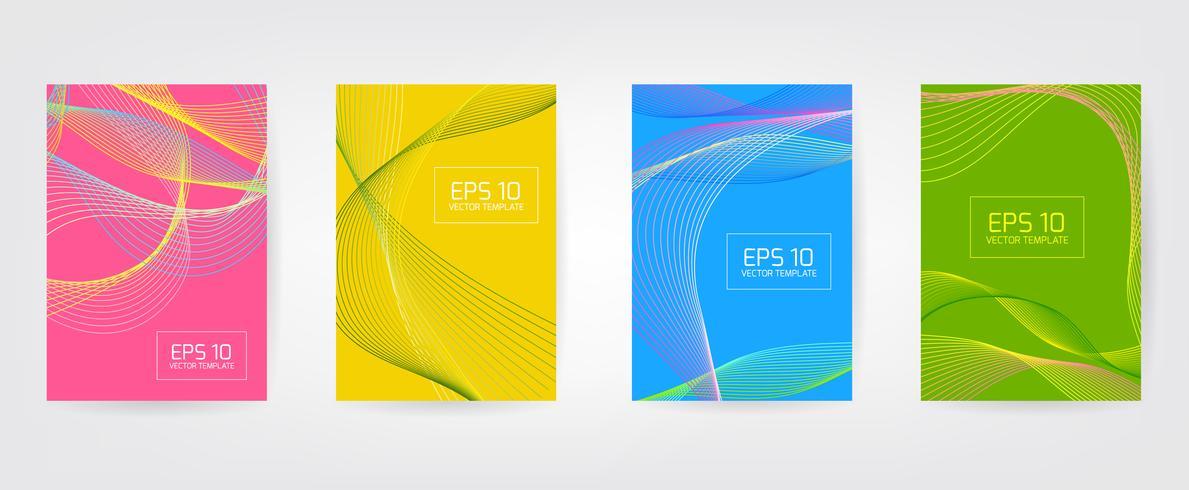 Vector minimalista cubre diseño. Enfriar los gradientes de medios tonos. Plantilla de póster de futuro.