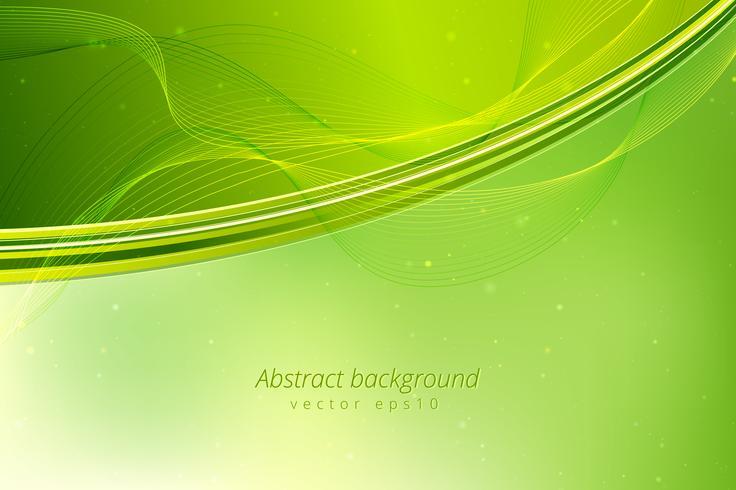 Fondo abstracto de las ondas verdes.