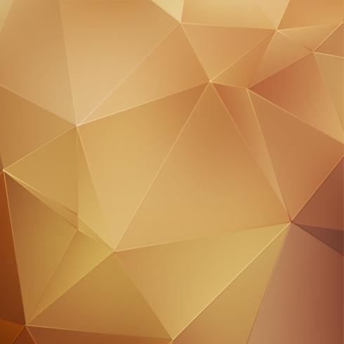 Gold abstract polygonal background