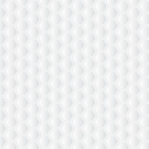 White honeycomb background. Paper art pattern vector