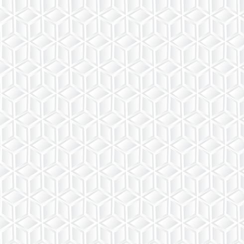 Geometrischer Hintergrund des weißen Würfels, Papierkunstmuster