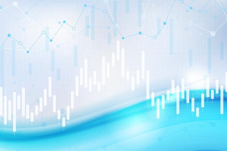 Gráfico de la tabla de la vela, comercio de inversión en el mercado de valores, punto alcista, punto bajista. Tendencia de diseño gráfico vectorial.