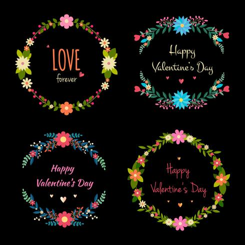 Valentine's Day Floral Frames Collection