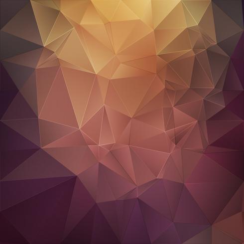 Fondo poligonal abstracto de oro vector