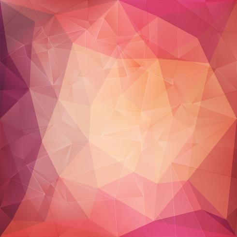Fondo geométrico de cristal rosa vector