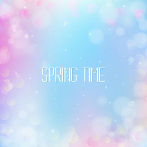 Fondo bokeh de primavera vector