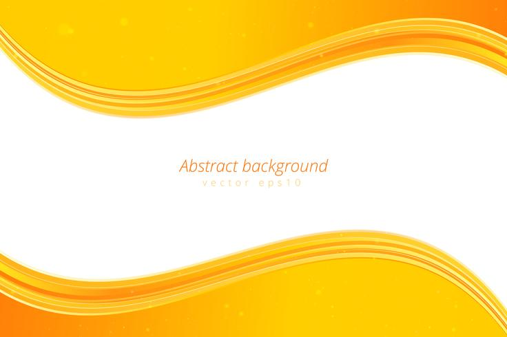 Gele golfachtergrond met witte ruimte voor tekst