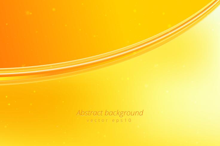 Yellow wave background vector