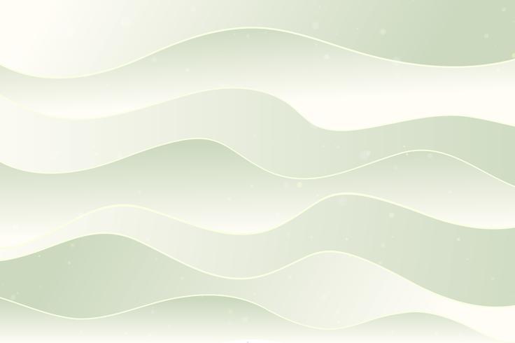 Fond de vagues vert clair, effet de papier