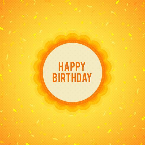 Feliz cumpleaños fondo amarillo vector