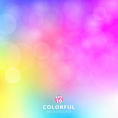 Abstract colorful blurred background with light bokeh.