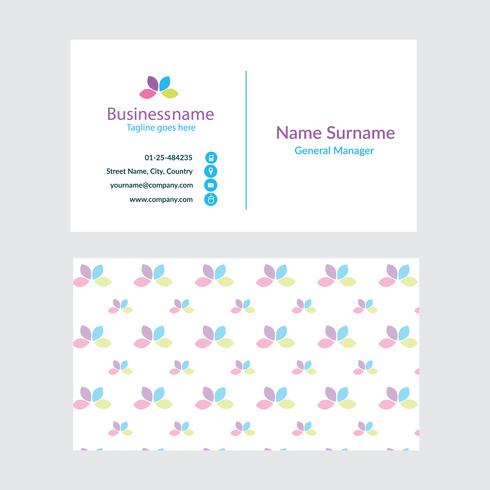 Abstract business card template. Spa Business card