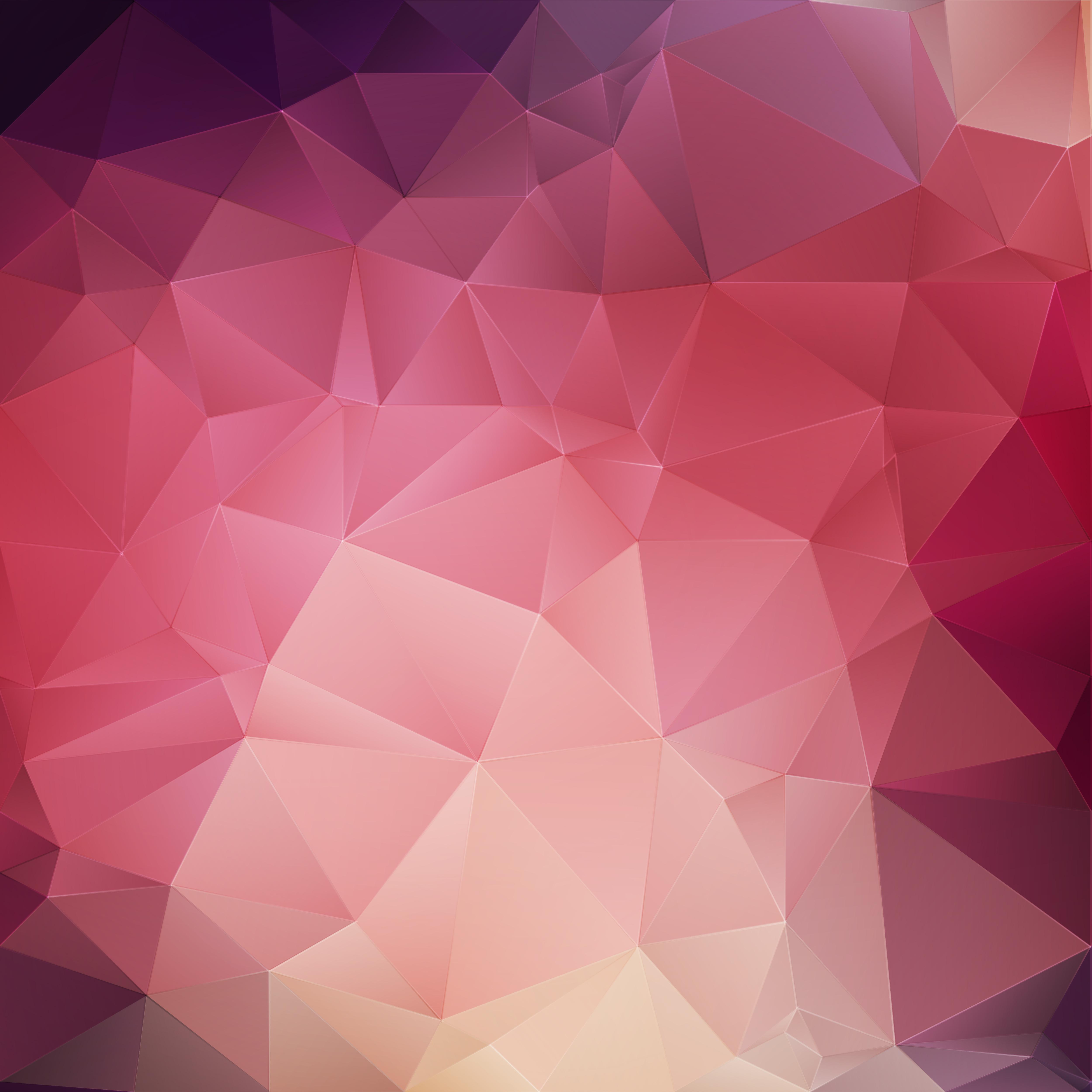 pink crystal geometric background